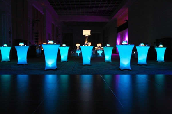 1Pc* Portable under table lighting for wedding party ...