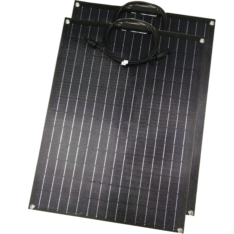 60W ETFE Flexible solar panel 18V for 12v panel charger semi flexible solar panels A grade solar cell customized size  - buy with discount
