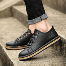 2017 Hot Sale Classic Man Outdoor Shoes Fashion Breathable Loafers Black Leather Men's Casual Shoes Man Shoes Brand Casual