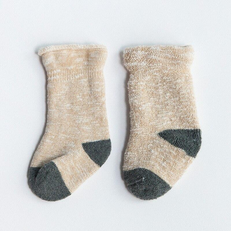 Thick Warm Winter Baby Socks Cotton Plush Lining Infant Kids Socks