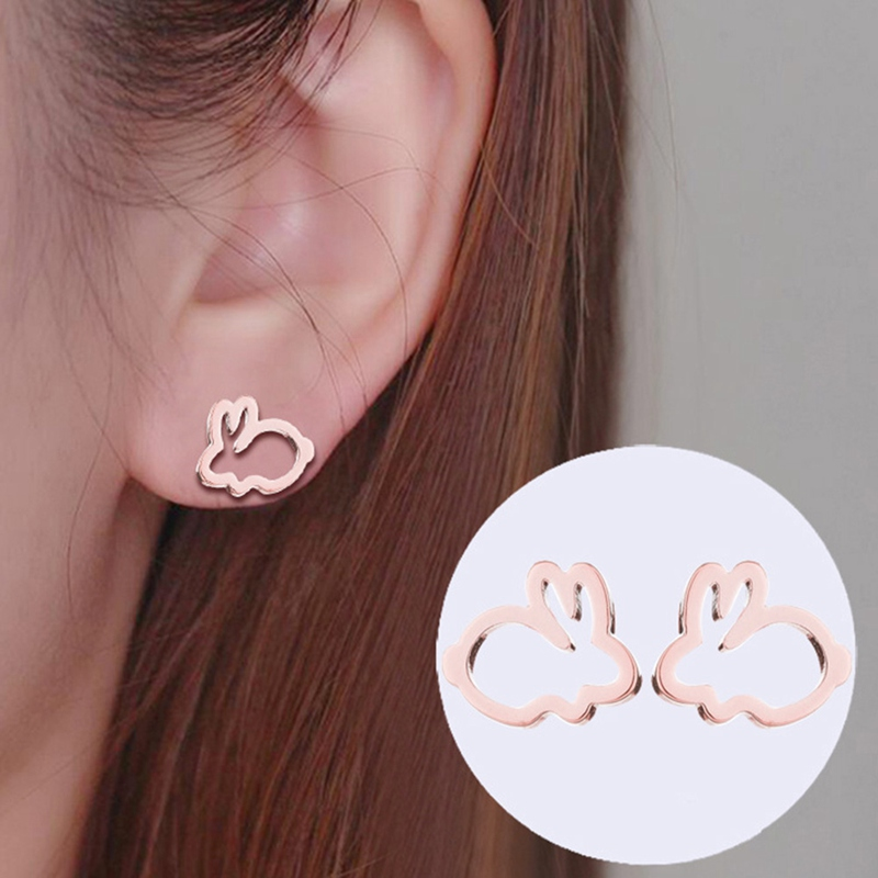 Cute Rabbit Earrings For Women Creative Cartoon Earings Lovely Animal Stud Earrings Gifts Kids