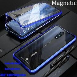 На Алиэкспресс купить стекло для смартфона for oppo reno 10x zoom magnetic case opporeno 360 front+back double-sided tempered glass case for oppo reno metal bumper case