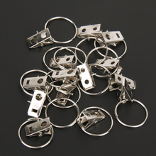 20pcs/pack Stainless Steel Curtain Hook Clips Window Shower Curtain Rings Clamps Drapery Clips Curtain Accessories