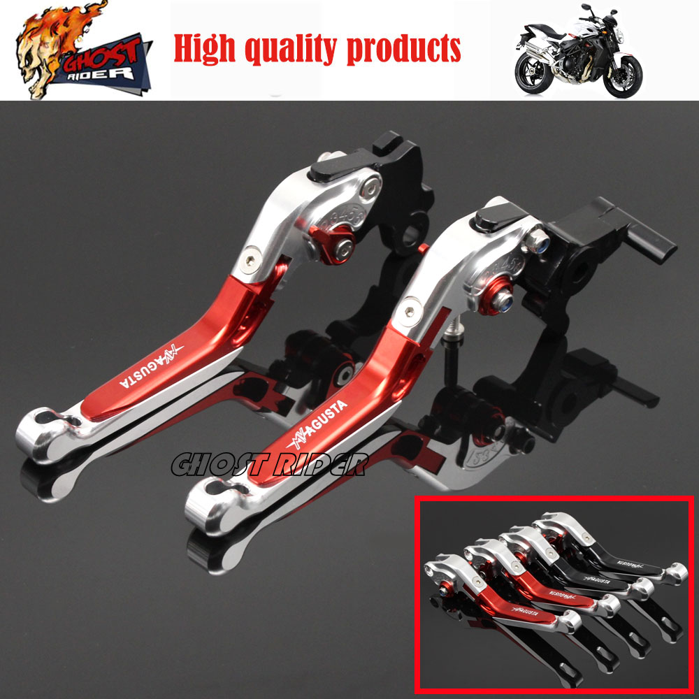 Motorcycle Accessories Adjustable Folding Extendable Brake Clutch Levers For MV AGUSTA Brutale 675 800 billet alu folding adjustable brake clutch levers for motoguzzi griso 850 breva 1100 norge 1200 06 2013 07 08 1200 sport stelvio