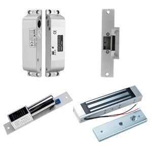 Image 5 - RFID сенсорная Водонепроницаемая металлическая система контроля доступа с 12 В постоянного тока NC/без электрического болтового замка/магнитный замок для двери безопасности