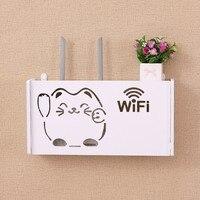 Беспроводной Wi-Fi маршрутизатор ящик для хранения настенная полка подвесной штекер доска кабель кронштейна коробки деревянный пластик дома...