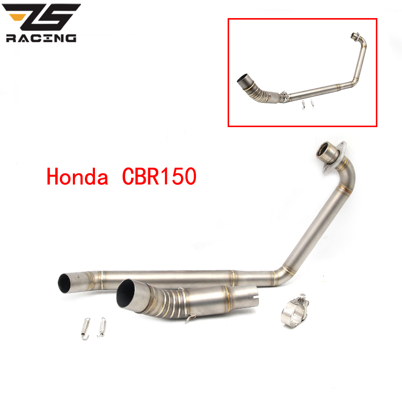 ZS Racing Motorcycle Full System Exhaust Escape Modified Contact Front Middle Link Pipe Slip-on For Honda CBR150
