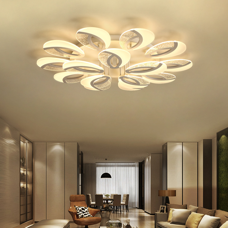 AC85~260V Rings Dimming Chandeliers For Living Room Bedroom Home Decoration Lighting Fixtures Modern LED Ceiling Chandeliers