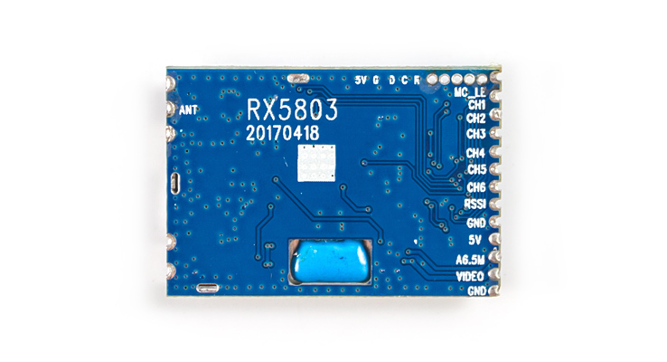 Skyzone RX5803 5.8g 48CH raceband A/V receptor módulo para FPV Racer Racing drone transmisiones