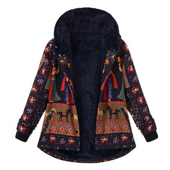 plus size 5xl winter jacket women parka coat Loose Warm Printed Pockets Thicker Hasp Gothic Hooded Coat Outwear jacket Clothes