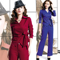 fall in the fall of the new style of the new women's fashion temperament long sleeved jacket trousers leisure two suits