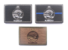 Embroidered Patches United States State Flag Patch Tactical 3D Badge kansas Flags Armband Badges