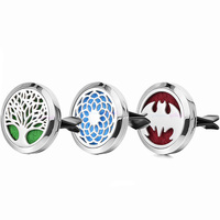 1pc 30mm 100 Real Stainless Steel Dream Catcher Tree Car Accessories Essential Oil Diffuser Locket Car