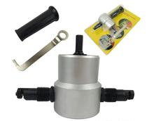 Nibbler Sheet Metal Cut Double Head Sheet Metal Cutter Home Hand Tools Power Tools Accessories Drill Attachment double head sheet metal nibbler hole saw cutter tool power drill kit