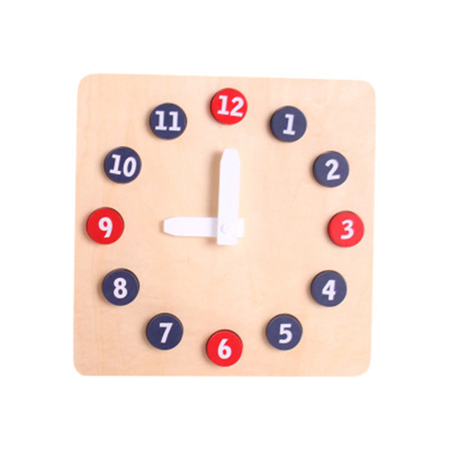 Montessori Professional Edition Activity Clock Wooden Child Early Education Centers Kindergarten Environmentally Friendly Toys