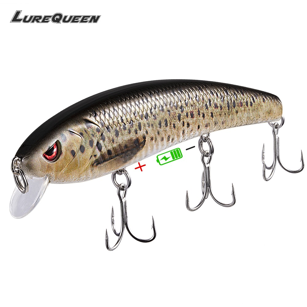 Twitching Fishing Lures Rechargeable LED Wobblers Hard Baits Iscas Minnow Jerkbait Peche Leurre Crankbait for Fishing Tackle mymei new mixed assorted sea fishing lures crankbait hooks minnow baits rig jig tackle