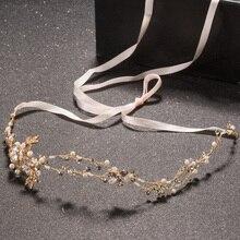 Hot Sale Pearl Crystal Handmade Bridal Hair Accessories Hairpin Tiara Wedding Hairband Tiara Headband Hair Jewelry