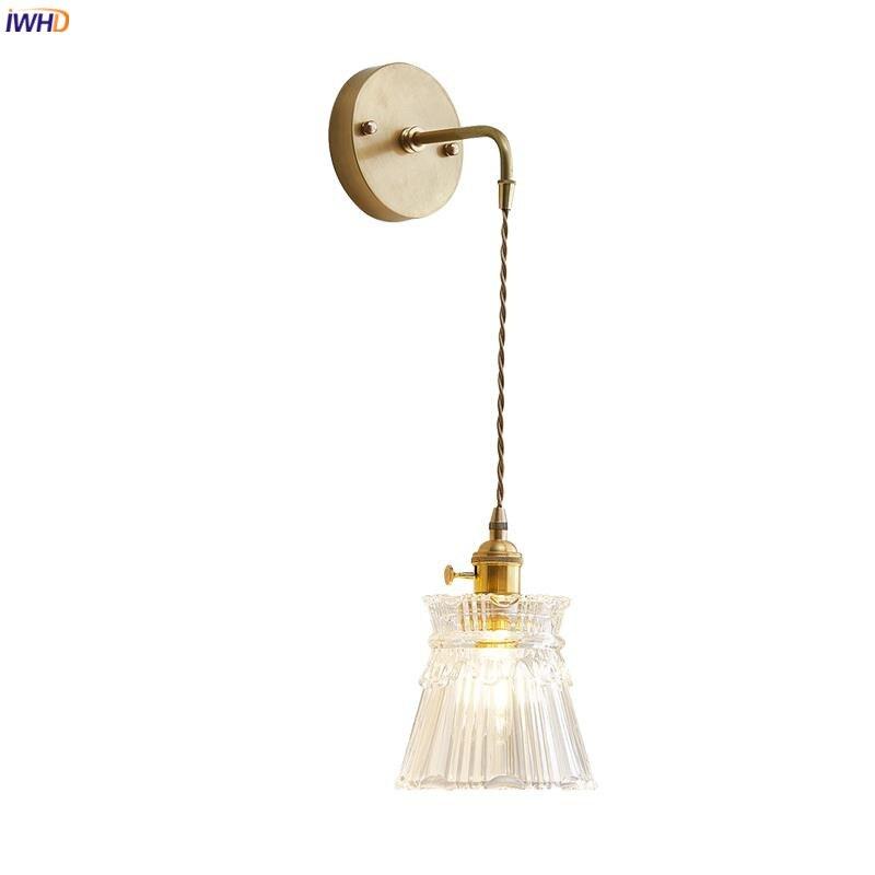 iwhd nordico japao retro luzes luminarias para casa quarto iluminacao de parede lampada de parede do