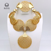 parure bijoux femme Plaque Or dubai 18k gold plated africain ensemble Ethiopian Nigerian wedding jewelry set