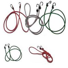 2016 New 1.5m Stretch Elastic Bungee Cords Hooks lightweight Bikes Rope Tie Car Luggage Roof Rack Strap Hooks Wholesale