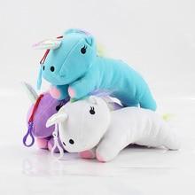 29cm 3 colors Unicorn pencile case plush doll font b toy b font blue purple white
