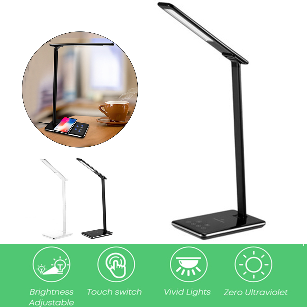 5W Qi Wireless Charger Wireless USB Output Charger with Folding Desk Eye Protection Touch Induction Desktop LED Light