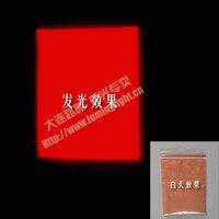 Free shipping Red Noctilucent powder superbright luminous glow powder DIY materials 100 gram per lot glowing in dark