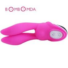 Rabbit Ear Vibrator Clitoris G Spot Stimulator Double Massage Waterproof Sex Toy For Women Pleasure Products