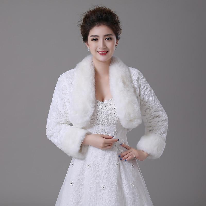 belles femmes hiver de bonne qualit en fausse fourrure veste de mariage bolero wraps de marie - Bolero Mariage Fausse Fourrure