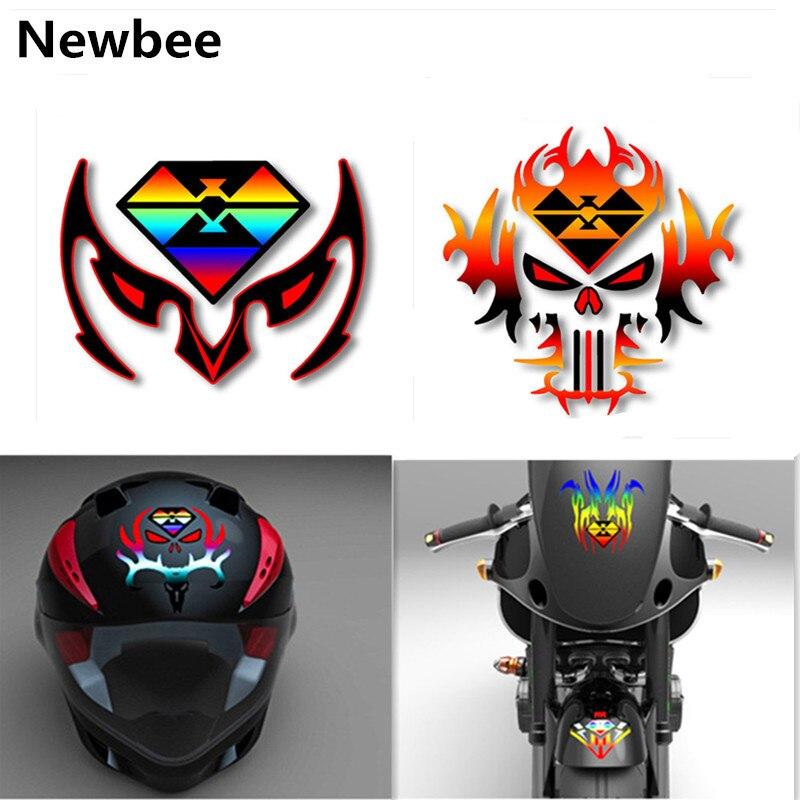 Intelligent Newbee 12 Cm * 12 Cm 3d Reflektierende Auto Aufkleber Motorrad Motorrad Moto Motocross Kraftstoff Tank Helm Laptop Aufkleber Vinyl Wasserdicht