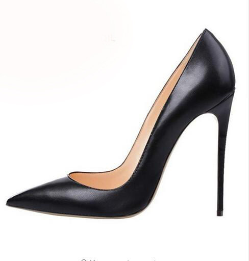 Online Shop Svonces High Quality Black Patent Leather Ladies Pumps ...