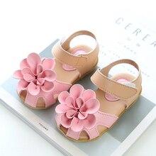 2019 New Fashion Girls Sandals Summer Kids Korean Flower Children Princess Shoes Baby Party Size 21-30