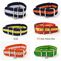 Hot fashion Mans Women fabric Nylon watchbands Woven Straps Buckle belt 18/20/22mm  for males females ladies girls boys unisex