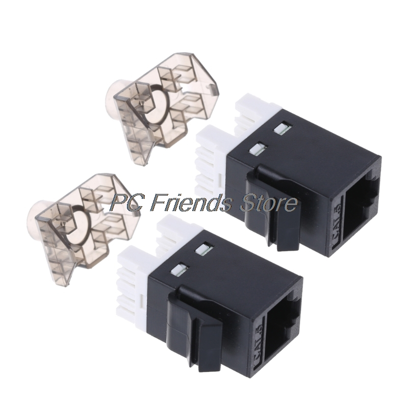 2Pcs UTP CAT6 Network Module RJ45 Connector Cable Adapter Keystone Jack-PC Friend usb 2 0 to rj45 lan ethernet network adapter