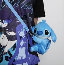 New style 1Pcs Stitch Plush casual Children cartoon Lanyard bag 20150618