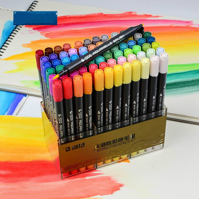 Free shipping STA 31101 aqueous painted water-soluble marker pen color pigment Comics soft head brush pen12/24/36/48/72 colors динамик широкополосный fostex fe206en 1 шт