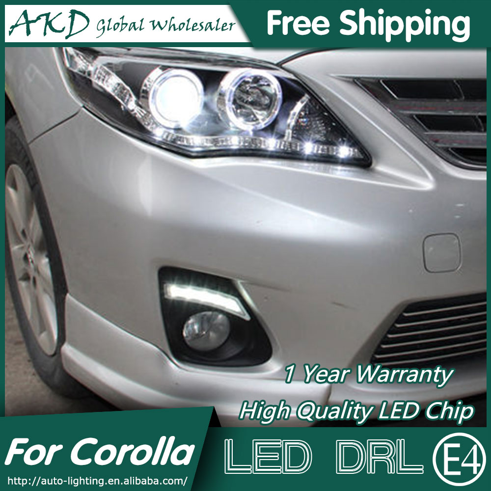 Akd car styling for toyota corolla altis led drl 2011 2013 corolla drl led daytime