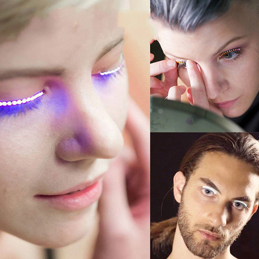 LED Lashes Wearable Electronic LED Eyelashes With 5 Flashes Effects For Party Halloween Christmas DJ Bar Nightclub