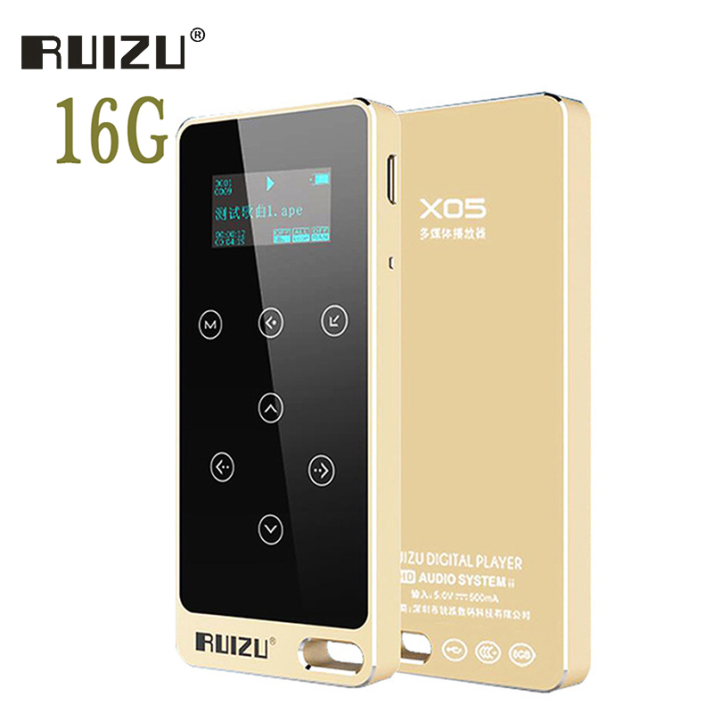 Ruizu X05 Digital Lossless Sport Hifi Audio Screen Mini Mp 3 Music Mp3 Player Radio FM 16GB With Flac Lcd Running Voice Recorder mp3 плеер ruizu x05