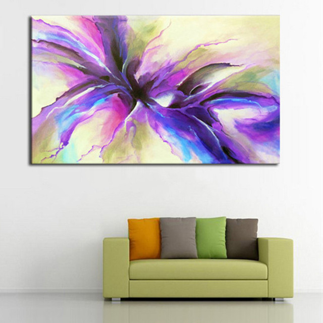 hand painted modern abstract flower oil painting large floral