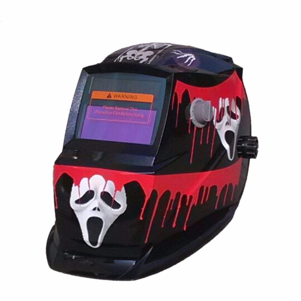 Welding Tools Stepless Adjust Solar Auto Darkening TIG MIG MAG MMA Welding Helmets/Electric Welding Mask/Welder Cap fire flames auto darkening solar powered welder stepless adjust mask skull lens for welding helmet tools machine free shipping
