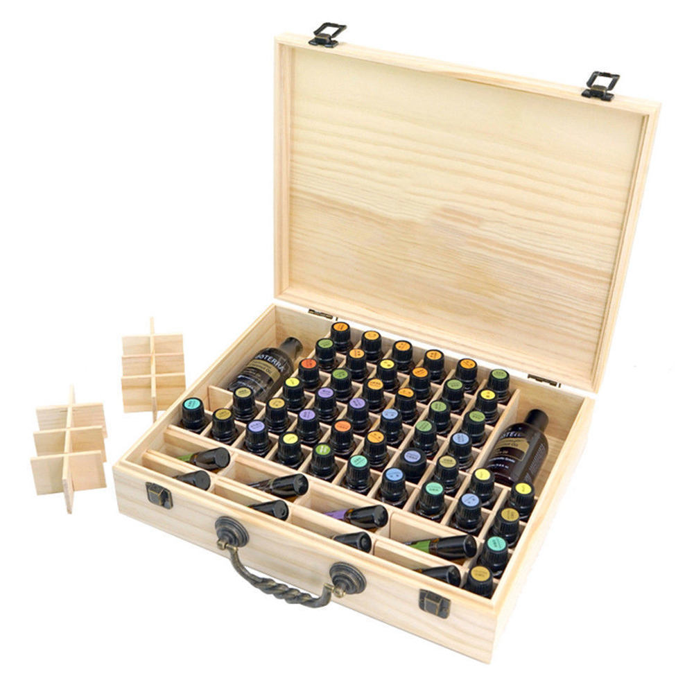 2019 2019 New Arrivals Pine Essential Oil Bottle Storage Box With 70 Compartments Wooden Storage Case From Galry 4771 Dhgatecom