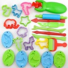 23pcs/lot Play Dough Tool Playdough Polymer Clay Plasticine Mold Play Doh Tools Set Kit For Kids Gift(China (Mainland))