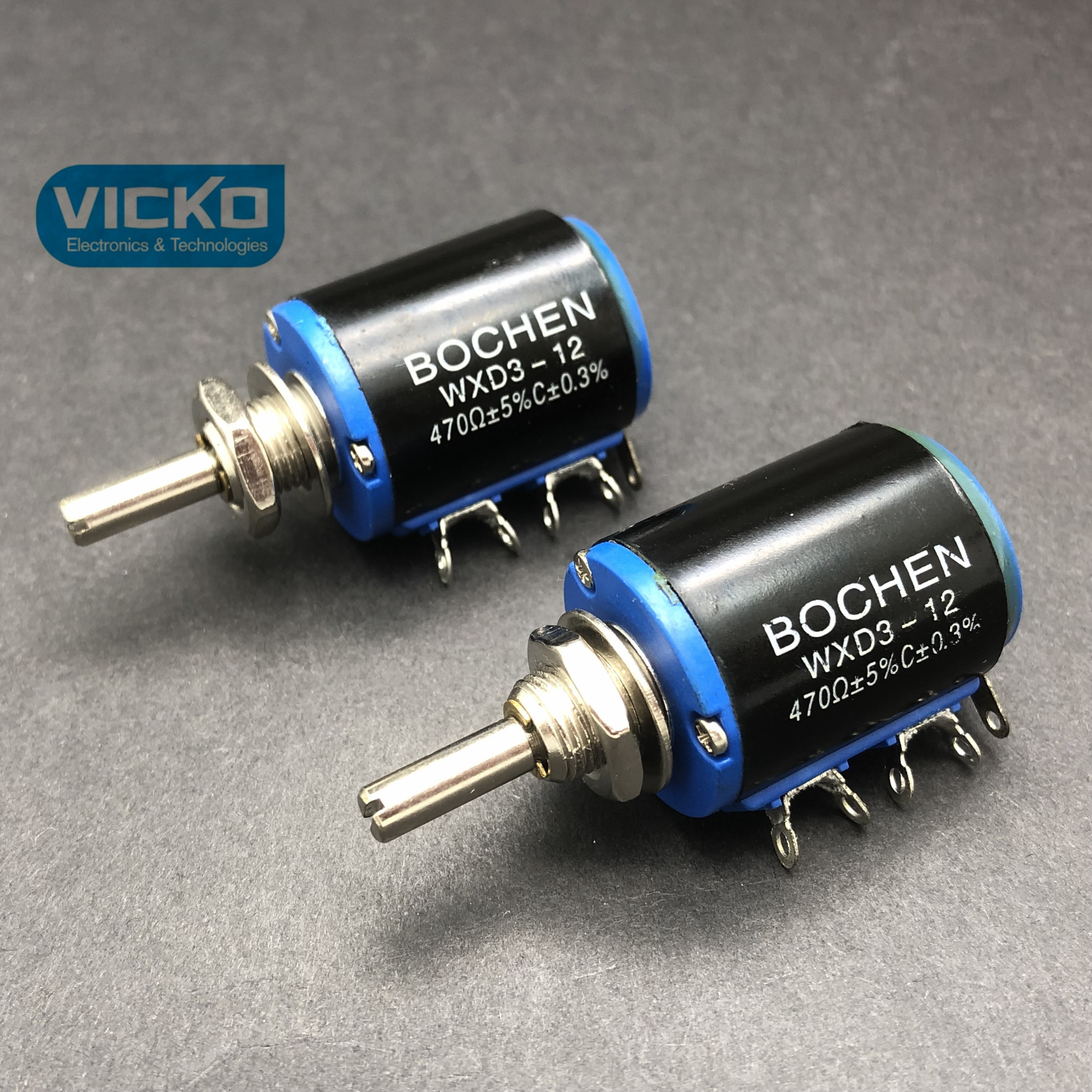 VK BOCHEN WXD3 12 precision multi turn around potentiometer 47K 470K 100R 220R 330R switch