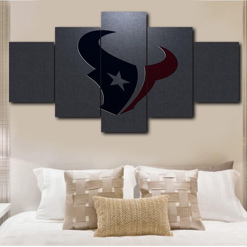 Houston Texans Art Poster Modern 5 Panels Living Room NFL