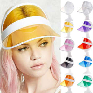 Sunscreen-Cap Sun-Hat Plastic Visor Clear Party Adults Summer Fashion PVC Casual Visera