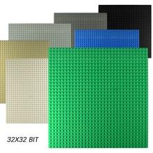 Placas Base de puntos clásicos ladrillos de plástico placas Base compatibles dimensiones de la ciudad bloques de construcción DIY Juguetes