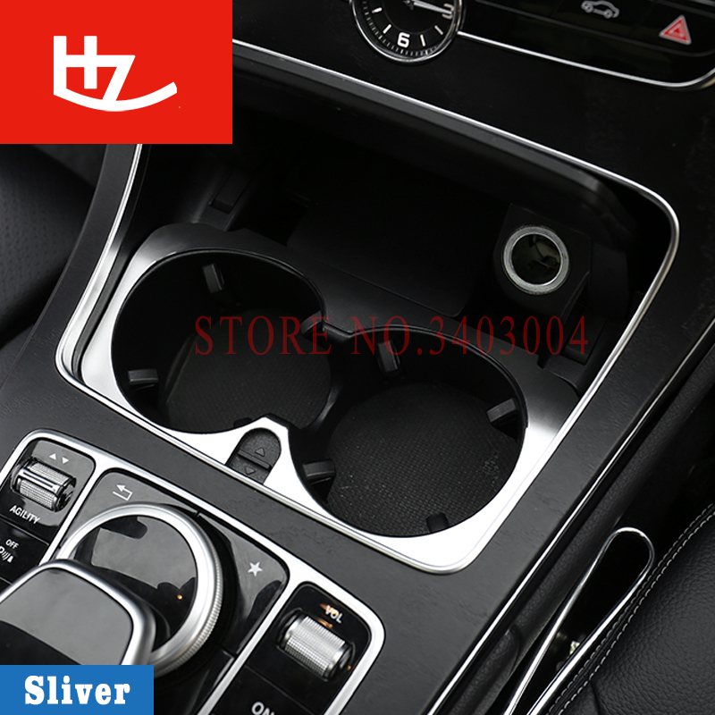 For mercedes benz w204 W006 C-class C200 2015-2016 E Class W213 GLC accessories Console cup holder decorative Trim Cover Sticker swiss military by chrono smp36040 11
