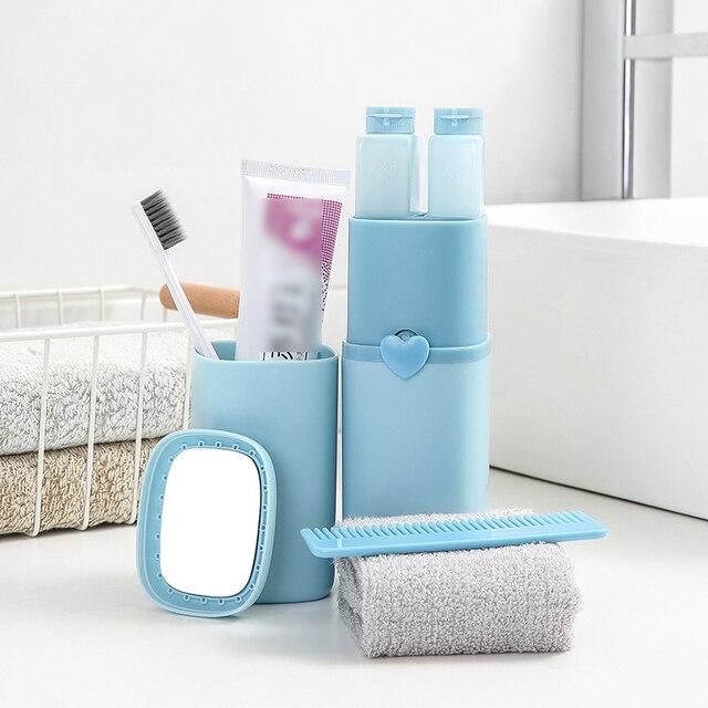 8 sztuk/zestaw kubek zestaw akcesoria łazienkowe zestaw zestaw do mycia szczoteczki do zębów pasta do zębów ręcznik grzebień lustro przenośne podróży Camping zestaw