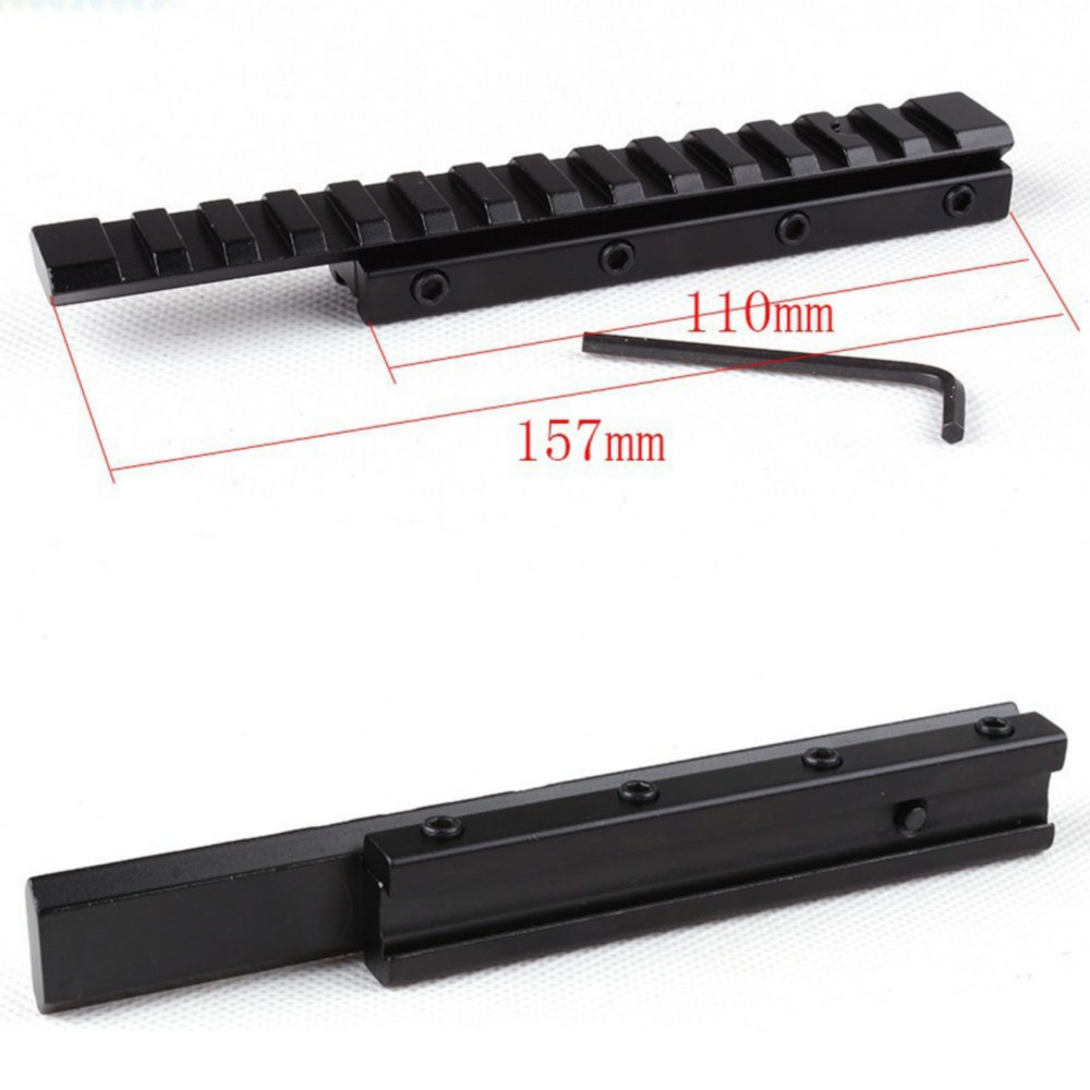 ohhunt Hunting Extension Dovetail Rail 11mm to 20mm Weaver Picatinny Rail Adapter Scope Mount